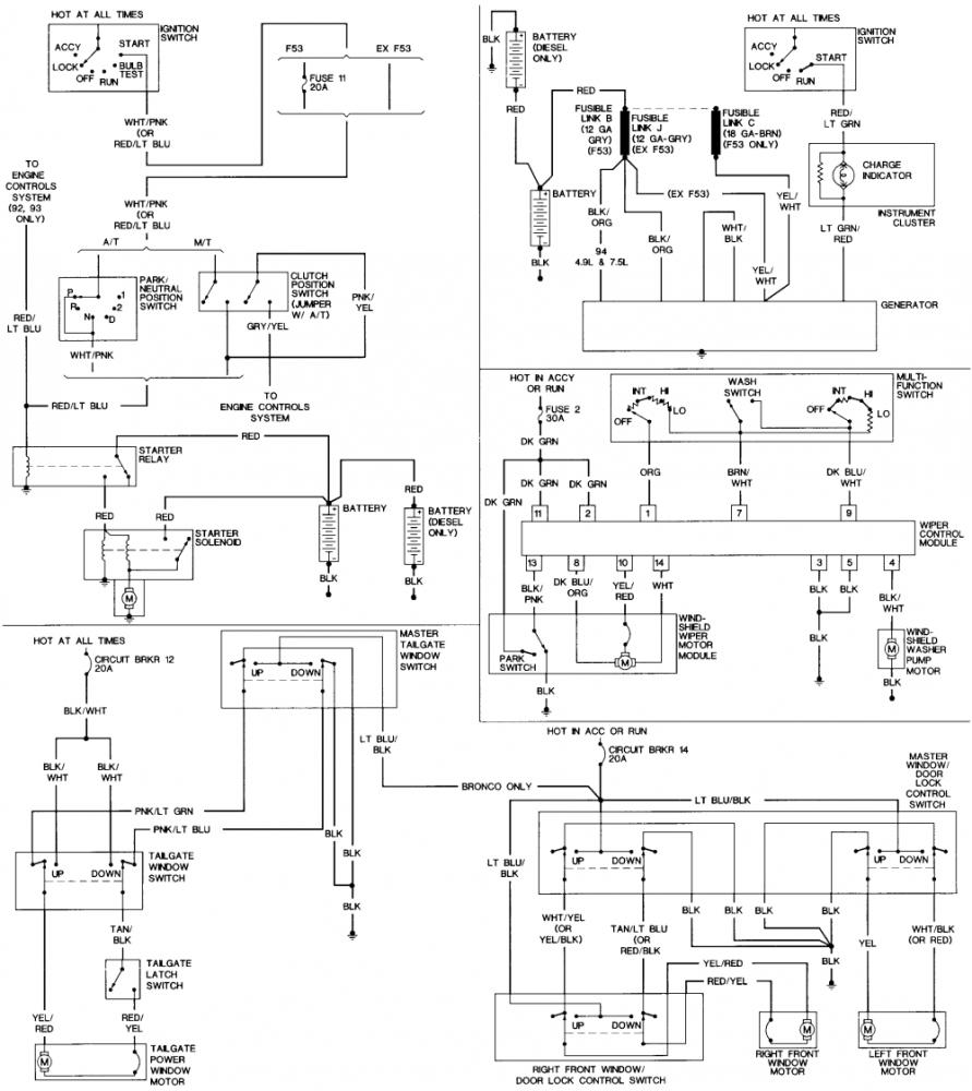 Ford Flex Wiring Schematic Library 21340101 Timer Diagram For Defrost 1995 F 250 Truck Electronic Diagrams 2003 F250 1993