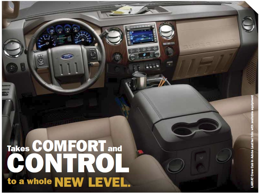 2008 Ford F250 Lariat Interior - www.proteckmachinery.com