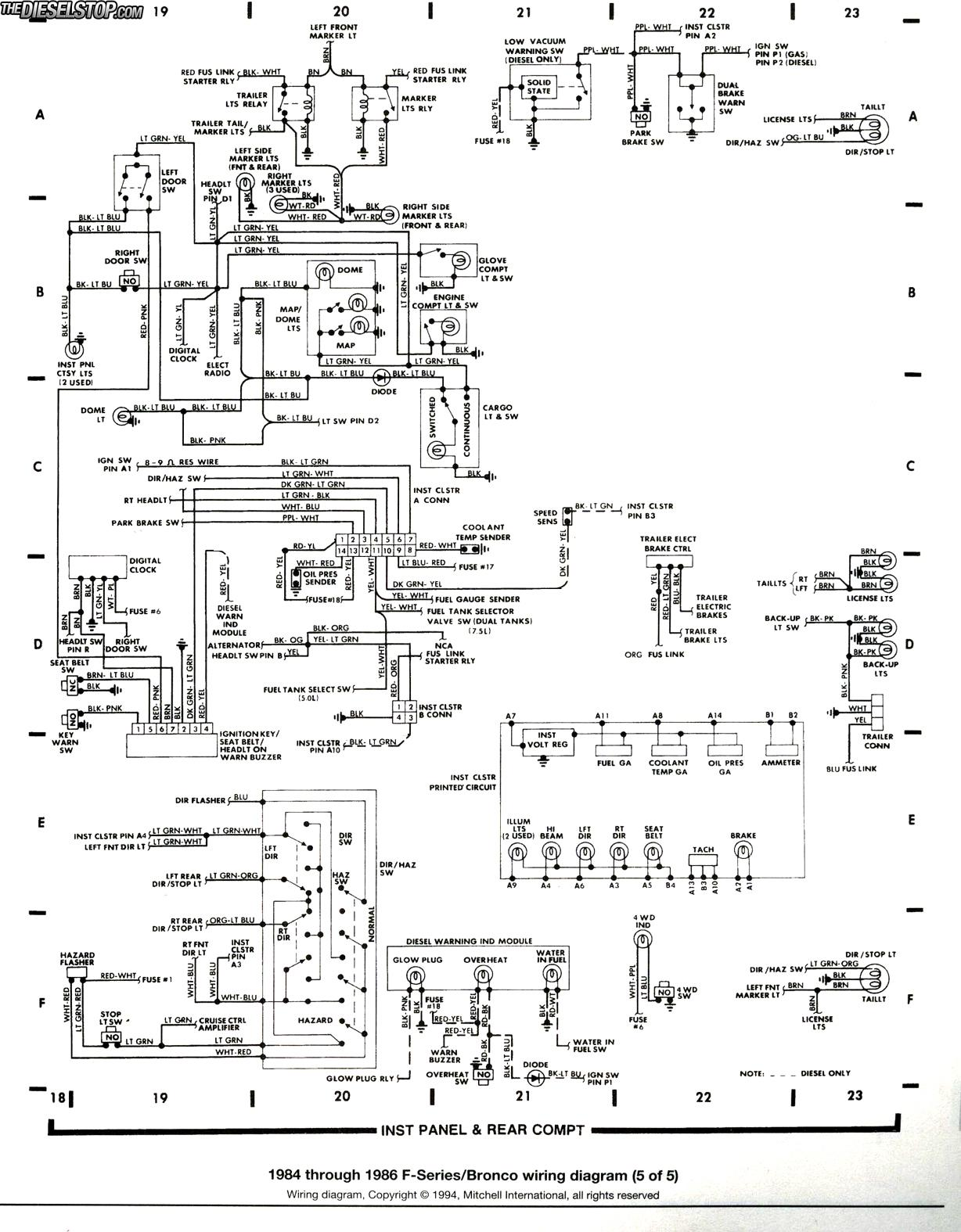 1986 F250 Frame Diagram Custom Wiring 85 Ford F 250 Building A Truck Up Elec Q S Diesel Forum Thedieselstop Com Rh Parts