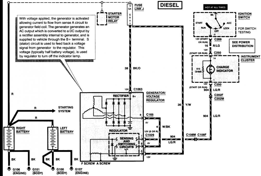 battery light on diesel forum thedieselstop com Basic Battery Diagram