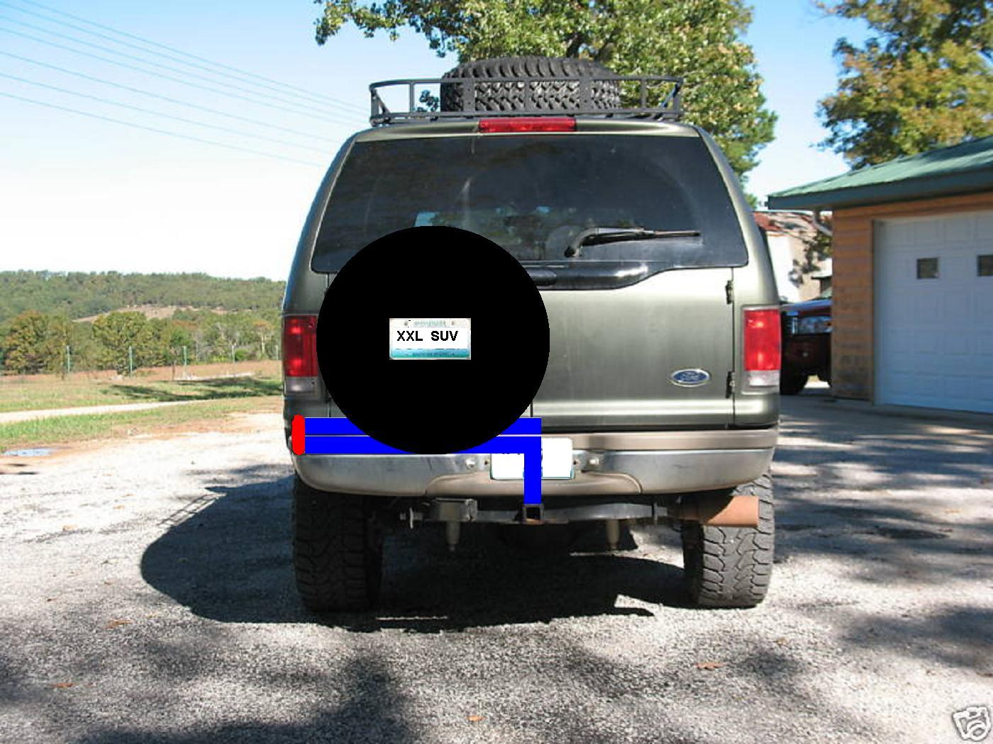 Can suggest ford excursion swinging spare tire carrier