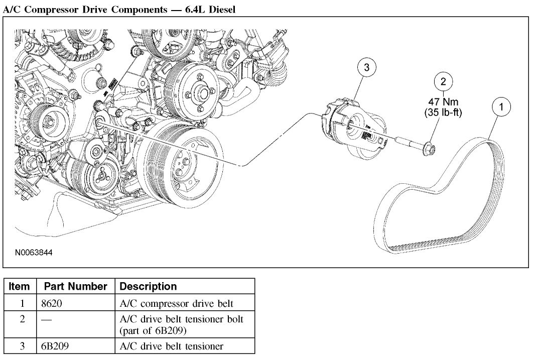 2008 ford 6 4 belt diagram