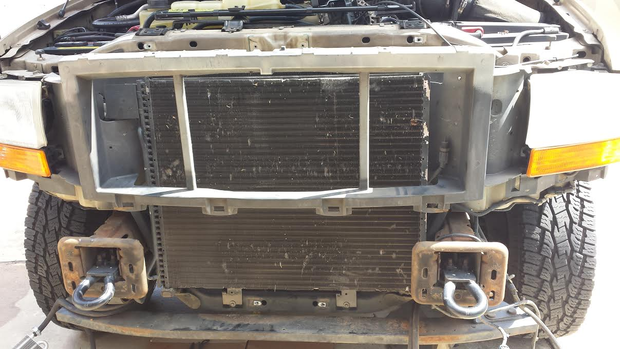 2000 f250 7.3 transmission cooler upgrade