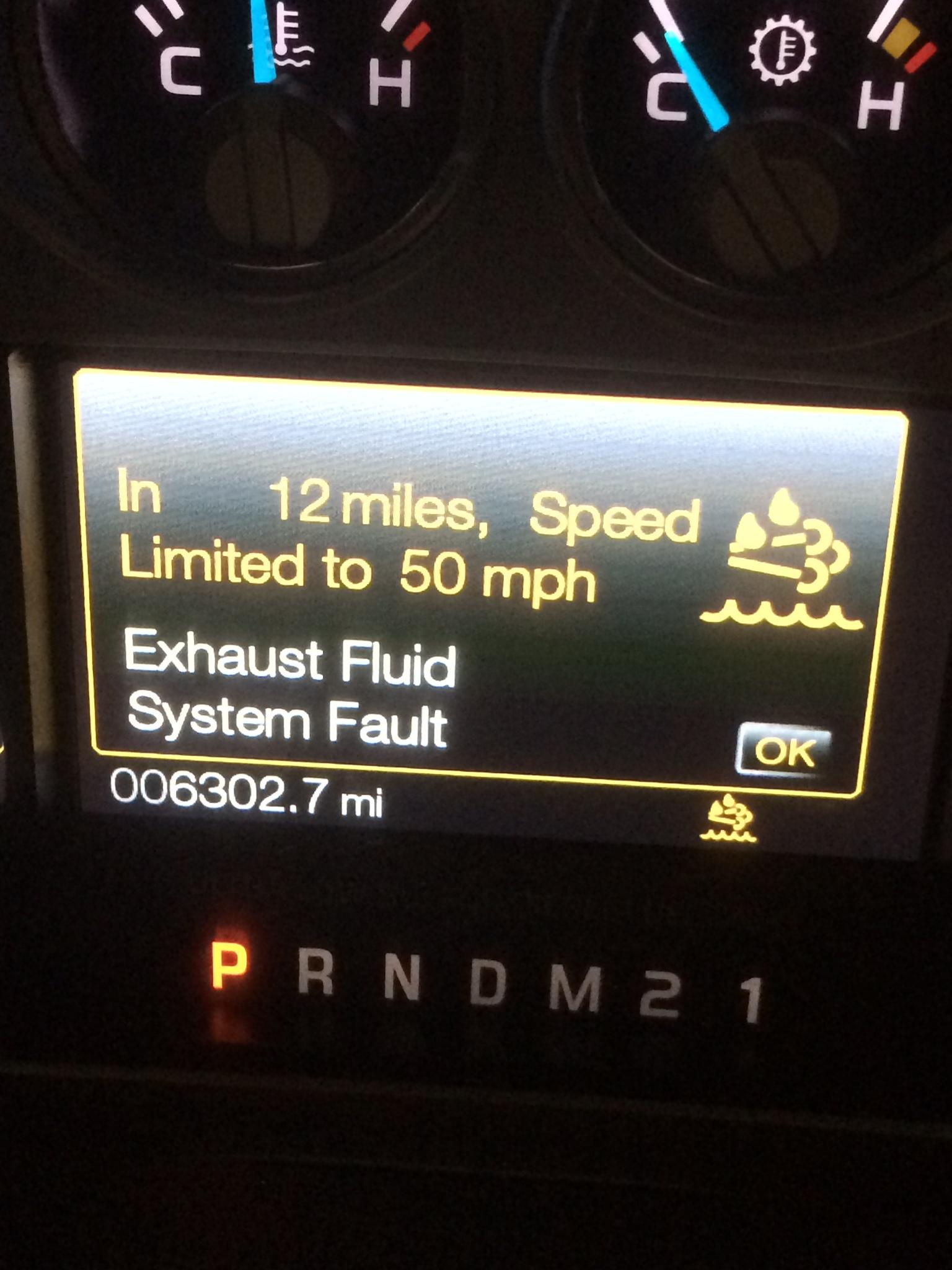 2015 F350 DEF System Fault Message - Diesel Forum