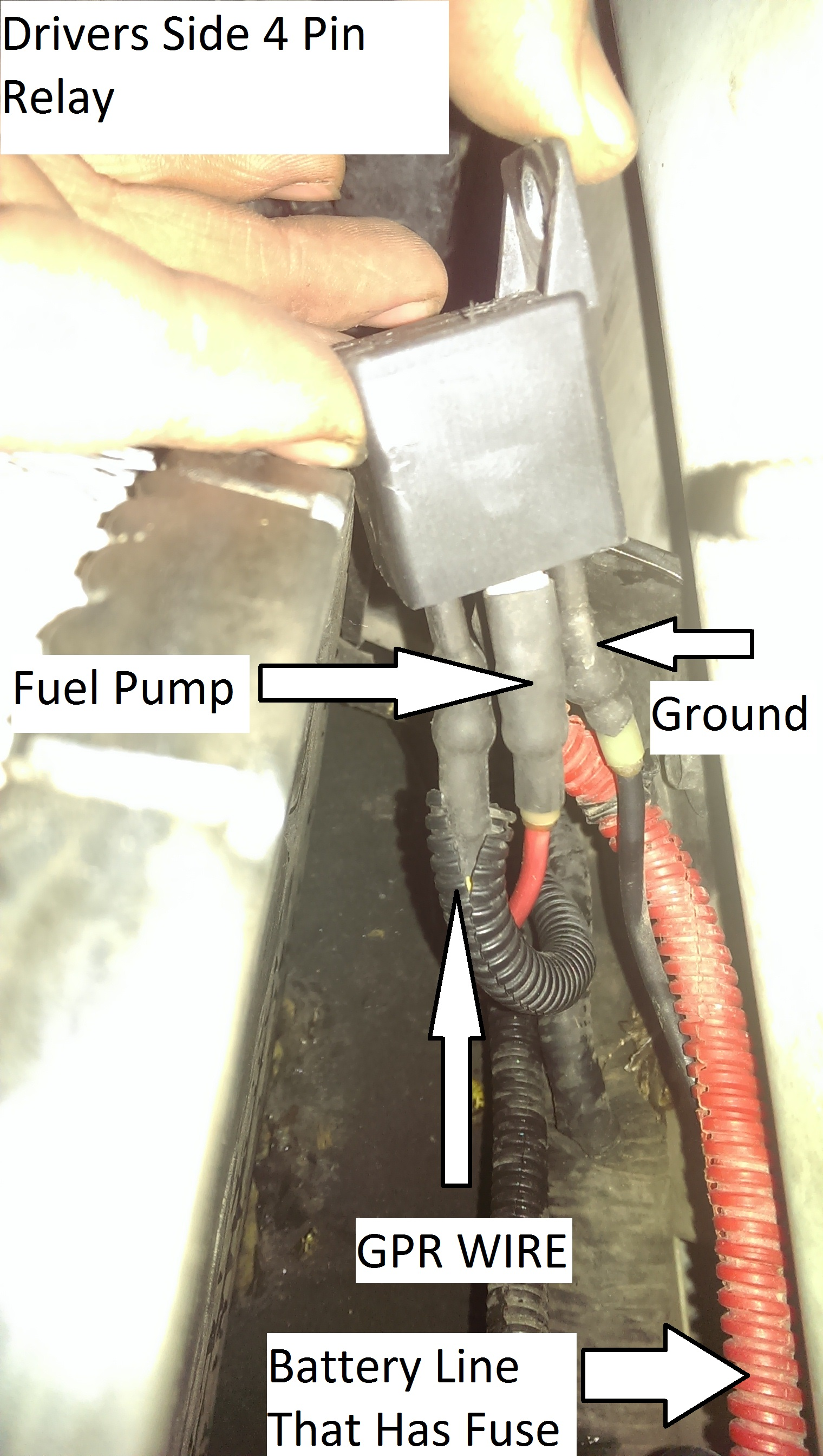 No Wait To Start Light After Changing Relay Truck Wont 4 Pin With Fuse Click Image For Larger Version Name Drivers Side Views