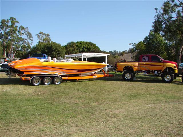 is the show truck hooked up to one of the boats that we used to sell ...