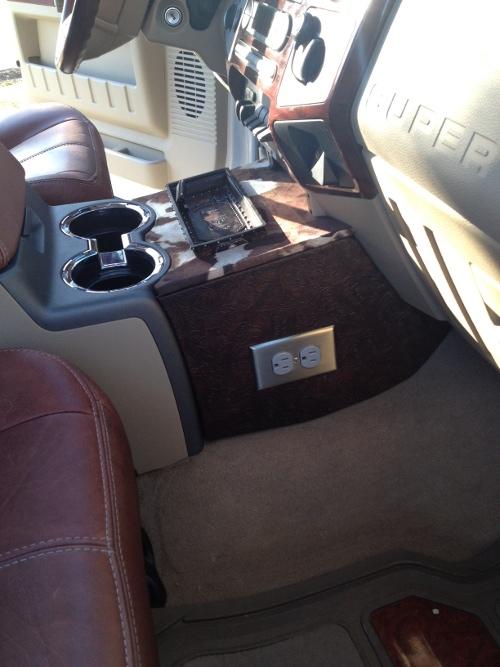 My Custom Center Console F350 KR - Diesel Forum ...