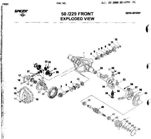 Front axle exploded view/part numbers - Diesel Forum ...
