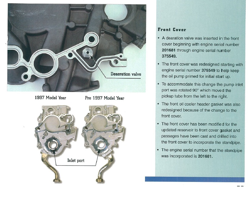 D No Oil Pressure Sending Unit Wont Start Front Cover on Diesel Engine Seals