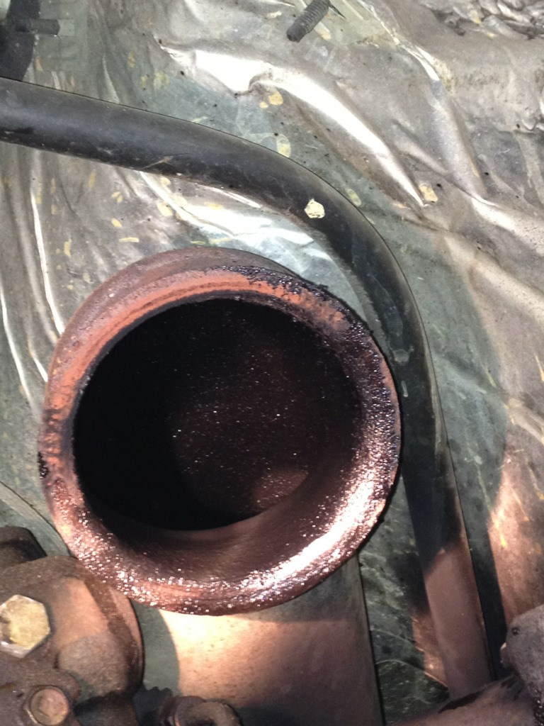 Bluish white smoke, oil leaking out of exhaust - Diesel