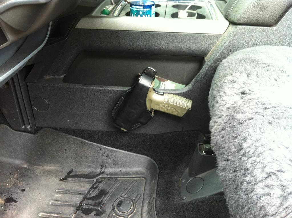 Pistol holster installed. - Diesel Forum - TheDieselStop.com