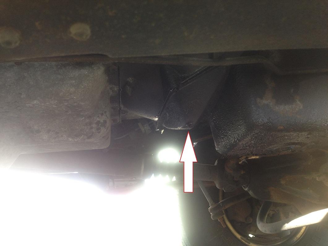 2006 f350 transmission leak