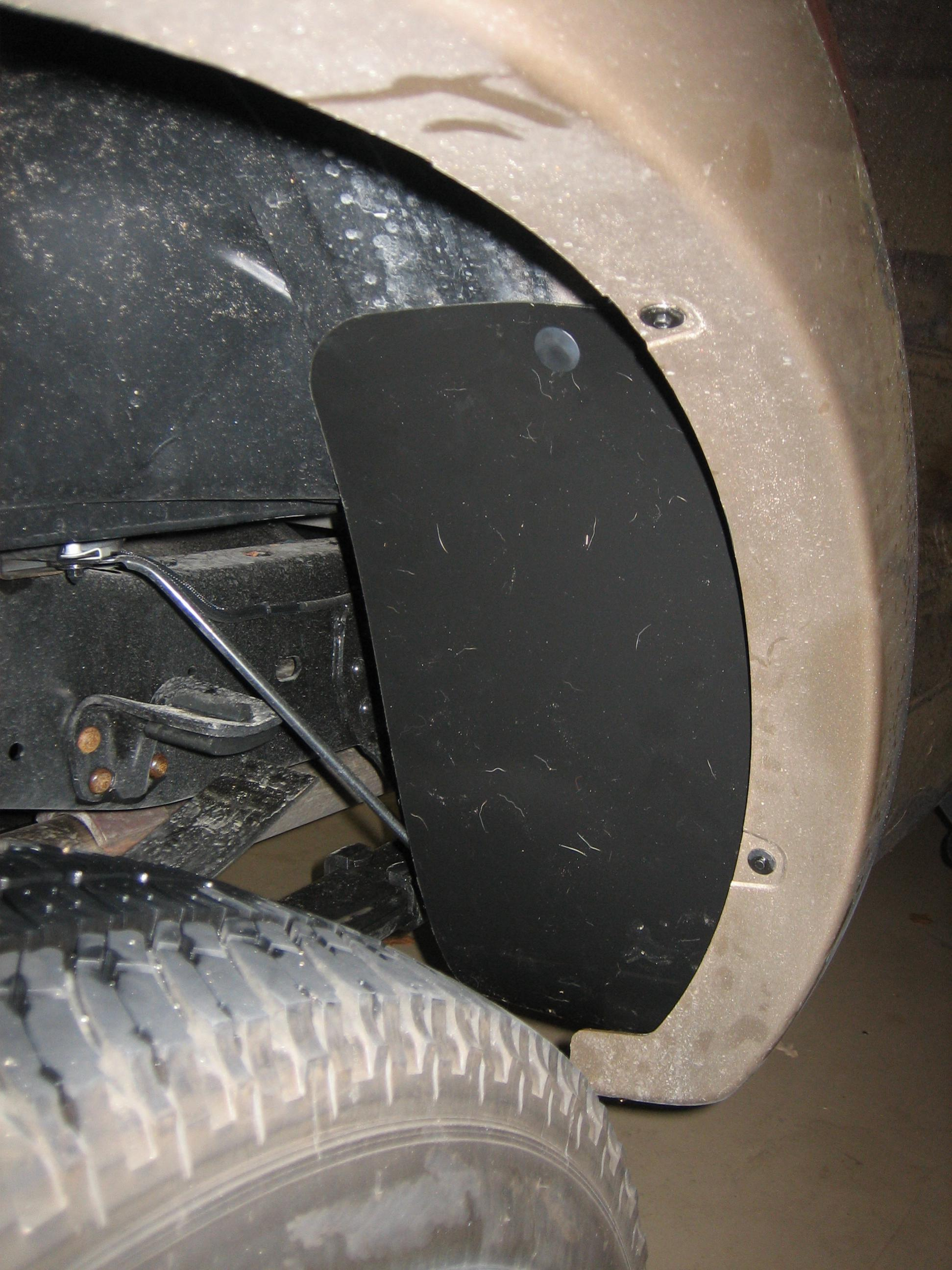 D Rear Inner Splash Shields Img on Ford Ranger 3 0 Engine