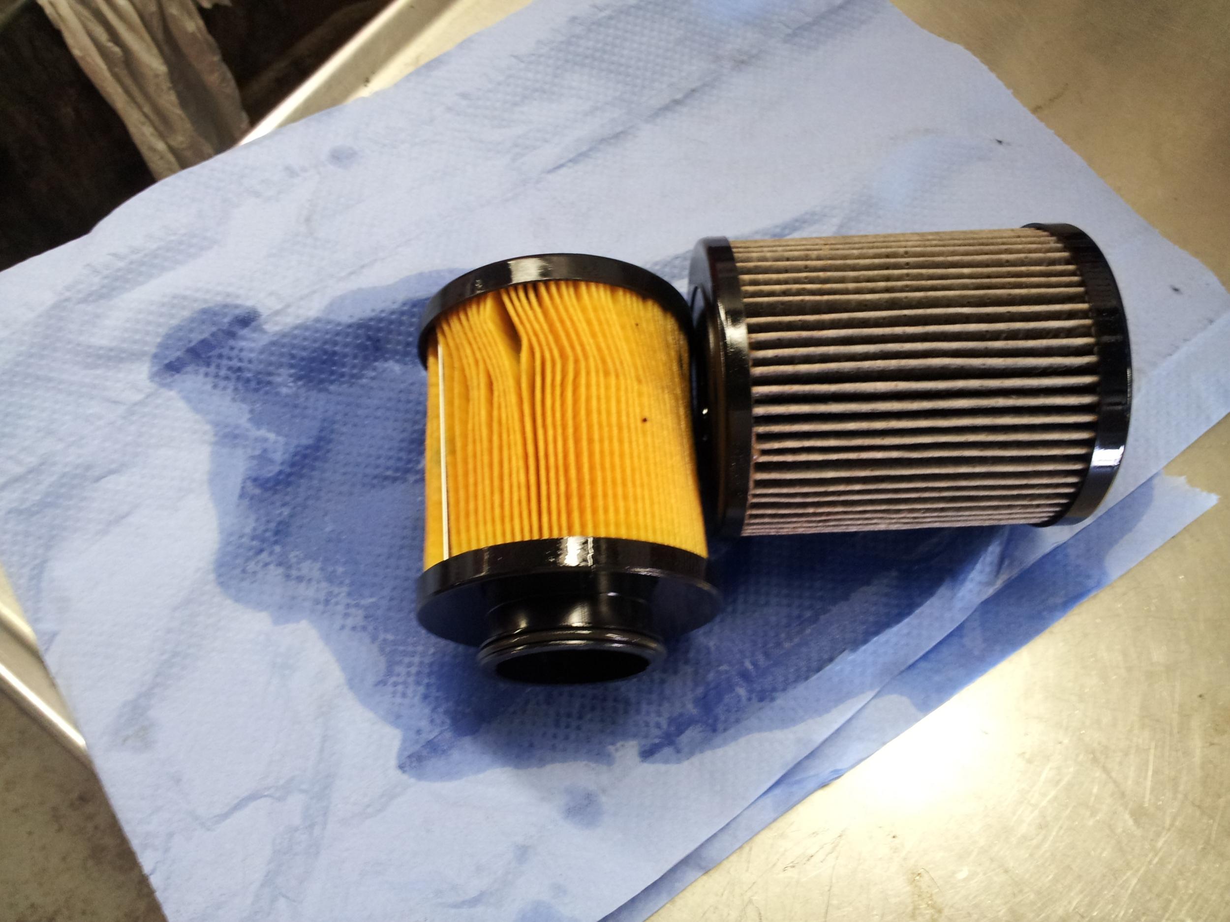 fuel filter dirty diesel