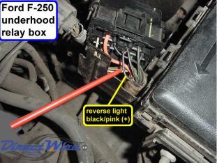 dash wiring diagram 2000 f750 color of reverse wire behind dash the diesel stop  color of reverse wire behind dash the