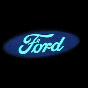 Lighted Ford Logo @ night