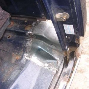 Rear cab floor replacement