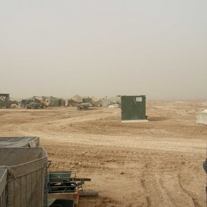 Dust (not sand) storms are the norm here.