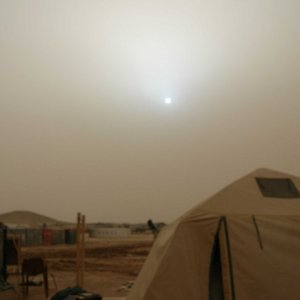 Dust storm at High noon.