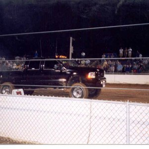 My 2003 Truck Pulling the Sled at the Buck 2 (Blowin Smoke)