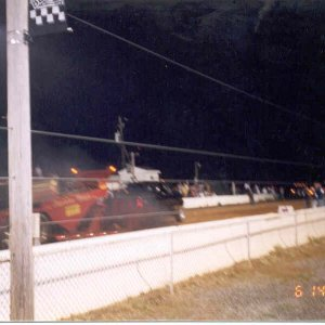 My 2003 Truck Pulling the Sled at the Buck 3 (Blowin Smoke up the track)