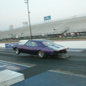 very first nitrous pass on new chassis