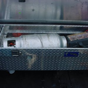 Propane tank in toolbox