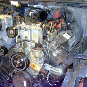 engine ready for removal