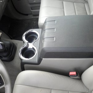Close up shot of Center Console with Manual Trans.
