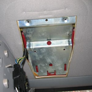 Console Bracket and Headliner Cut