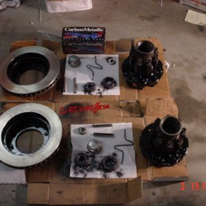 Brake parts ready to go back on truck!