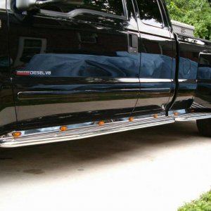 Running boards and lights
