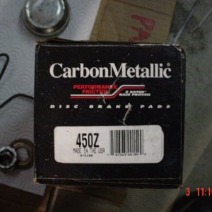 carbon metallic Z rated pads
