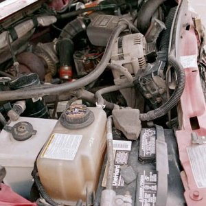Wrecked Engine Compartment