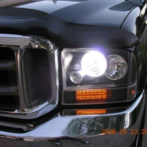 Closeup of HID headlight